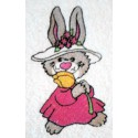 Design: Animals>Wild Animals>Rabbits - Bunny with flower hat