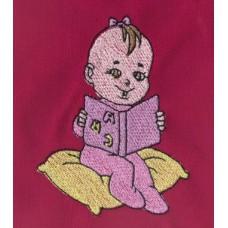 Design: People>Babies - Baby girl reading