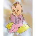 Design: People>Babies - Baby girl reading