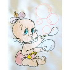 Design: People>Babies - Baby blowing bubbles