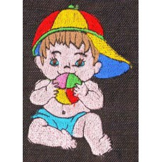 Design: People>Babies - Baby with cap and ball