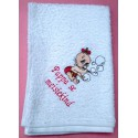 Product: Babies>Baby Cloths - Burp Cloth (Baby blowing bubbles)