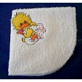Product: Babies>Baby Cloths - Facecloth for Babies (Duckling holding bottle)