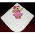 Product: Babies>Baby Cloths - Facecloth for Babies (Teddy in pink dress)