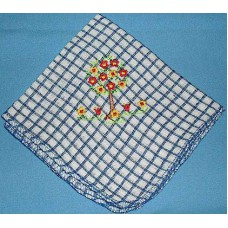 Product: Kitchen>Linen - Washcloth (Trees with flowers)
