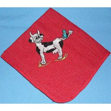 Product: Kitchen>Linen - Washcloth (Cow and bird)