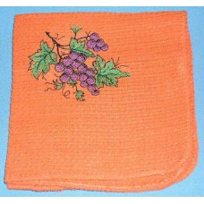 Product: Kitchen>Linen - Washcloth (Bunch of grapes)