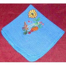 Product: Kitchen>Linen - Washcloth (Sunflower and pumpkin)