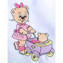 Design: Items>Toys>Teddy Bears - Bear with toy stroller